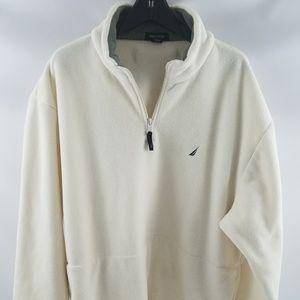 Nautica Mens XXL Pullover Fleece White